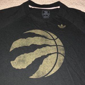 Adidas raptors basketball crew neck sweatshirt S